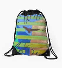 Hexagram 57 Xun (Penetrating Wind) Drawstring Bag