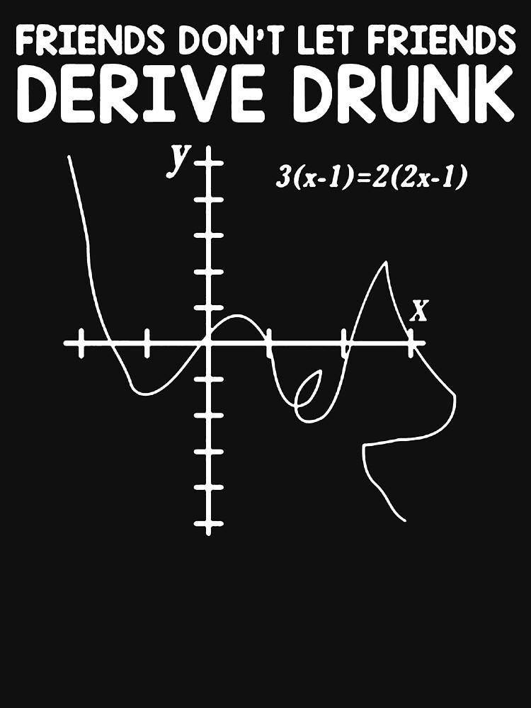 Funny Math T Shirt Gift-Friends Don't Let Friends Derive Drunk for Women Men by Anna0908