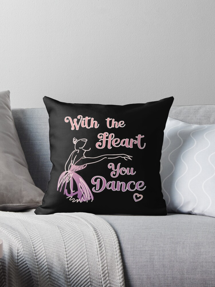 Ballet Teacher Dance Student With The Heart for dark square by Dancethoughts