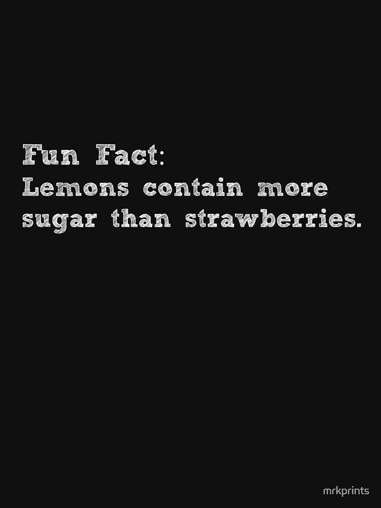 Fun Fact Lemon Apparel  by mrkprints