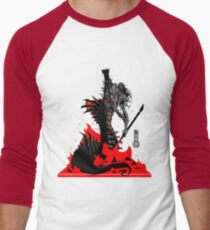 The Game of Kings, Wave Six: The Black Queen's Rook Men's Baseball ¾ T-Shirt