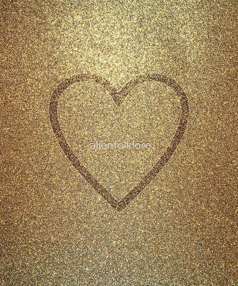 Gold Heart by alienfolklore