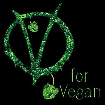 V for Vegan by 504-JAX