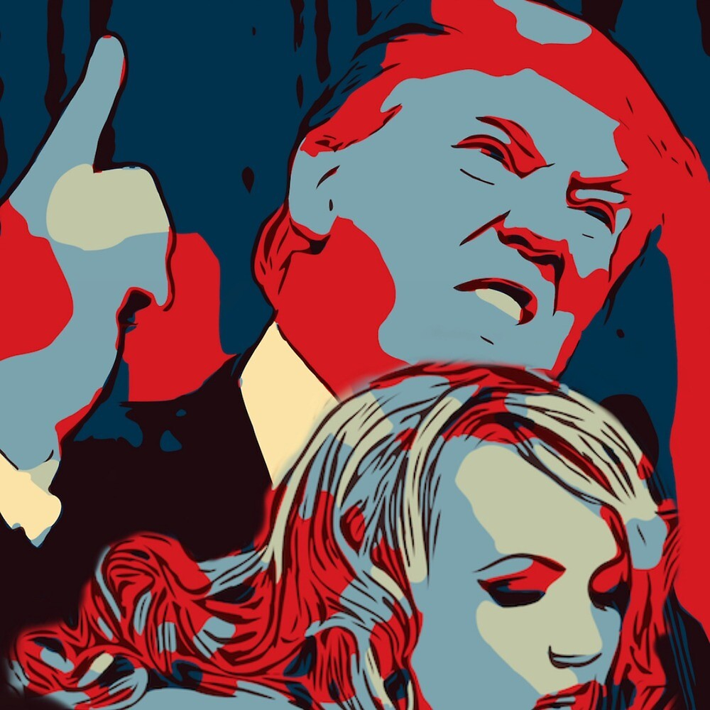 Trump and stormy  by Jim Rowe