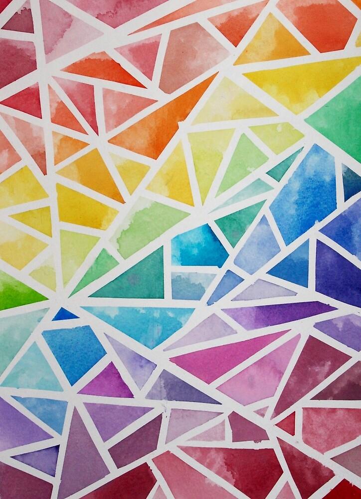 Rainbow Watercolor Pattern by dmac1343
