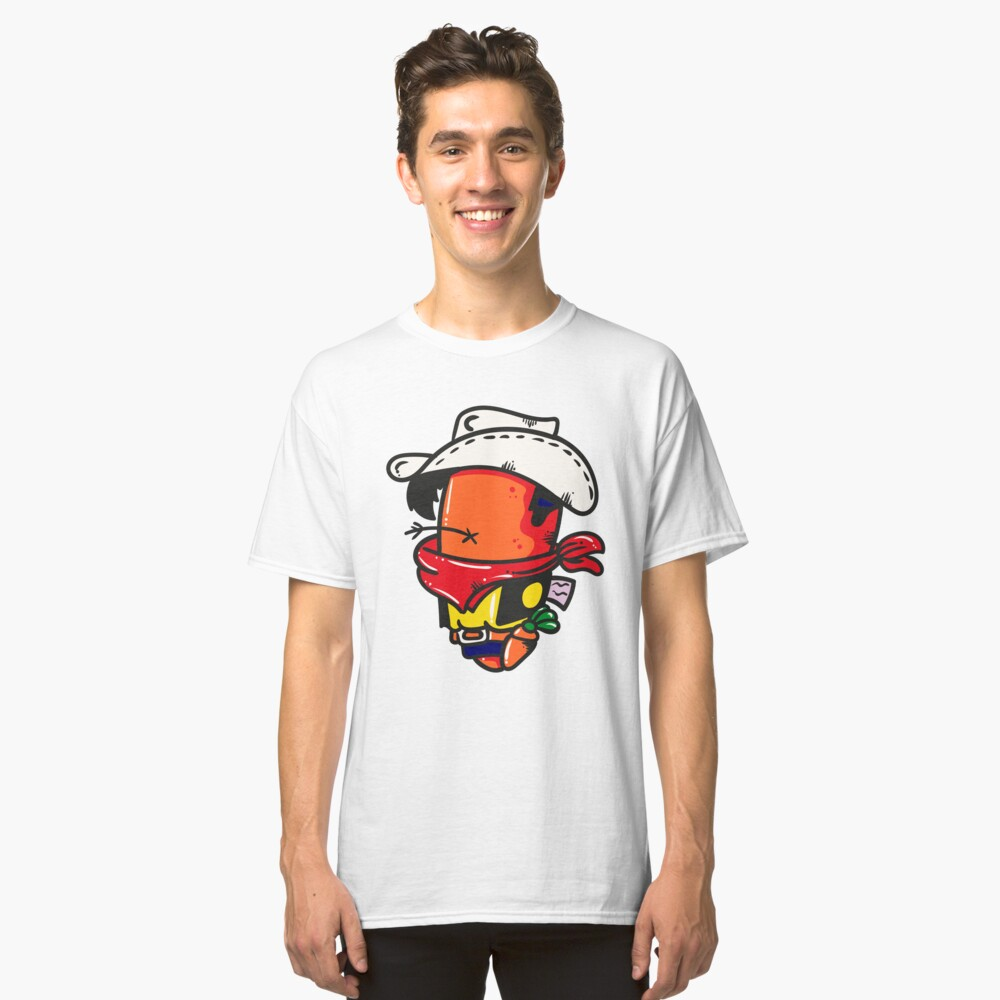 Funny Cowboy Classic T-Shirt Front