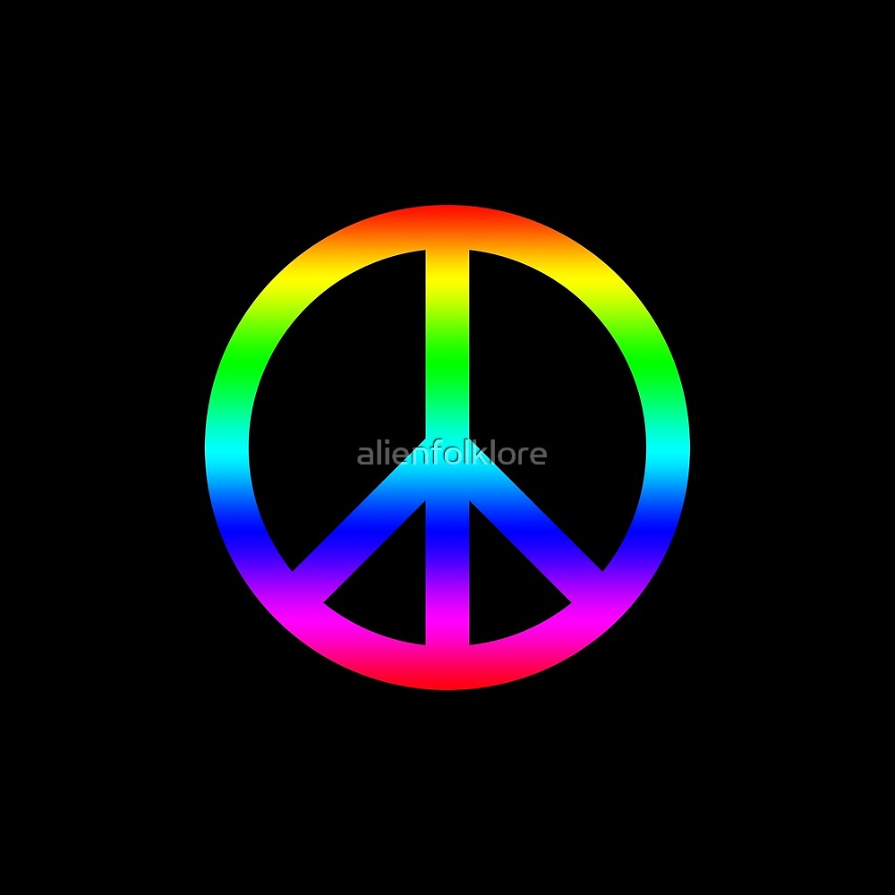 Rainbow Peace Sign by alienfolklore
