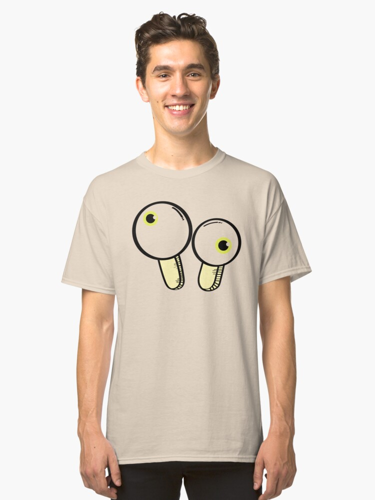 Funny Crazy Eye Classic T-Shirt Front