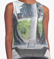 statue, architecture, old, ancient, stone, sculpture, garden, building, travel, park, temple, church, art, grass, city, bronze, monument Contrast Tank