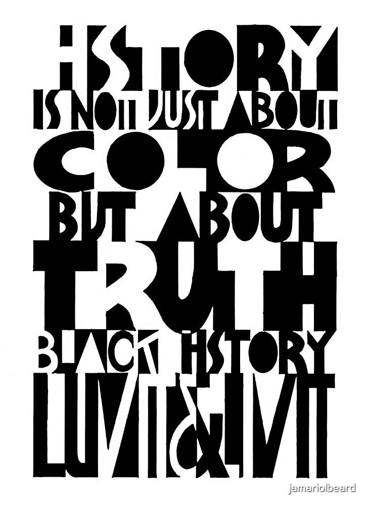 black history abstract poster  by jamariolbeard
