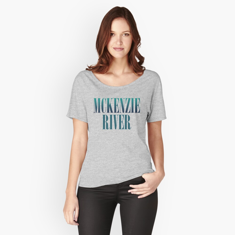 McKenzie River Oregon Women's Relaxed Fit T-Shirt Front