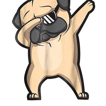 Dabbing Pug Shirts - Cute Funny Dog Dab T-Shirts by Nonatee