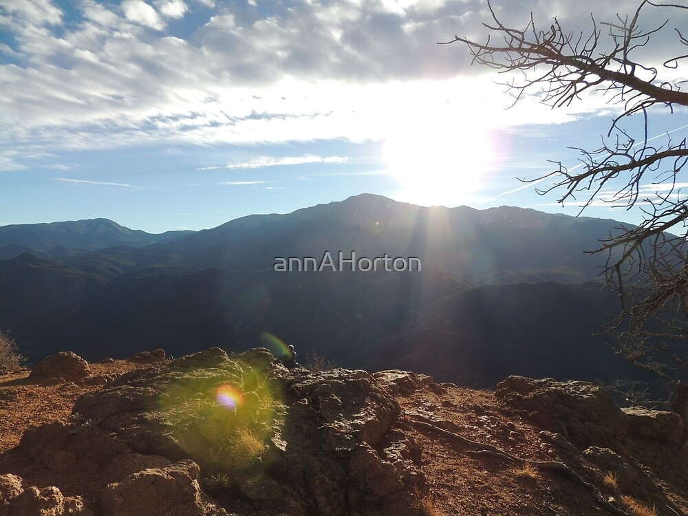 Pikes Peak from Rampart Range by annAHorton