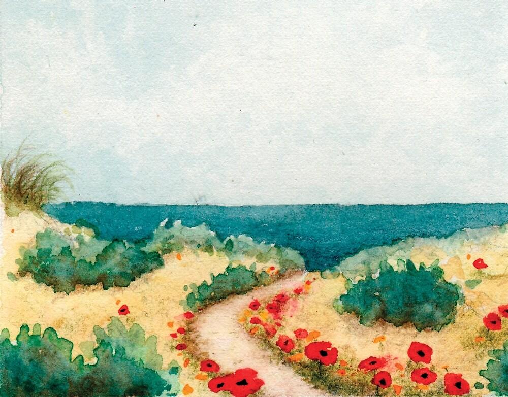 Poppies by the Sea by HeidiHoHo
