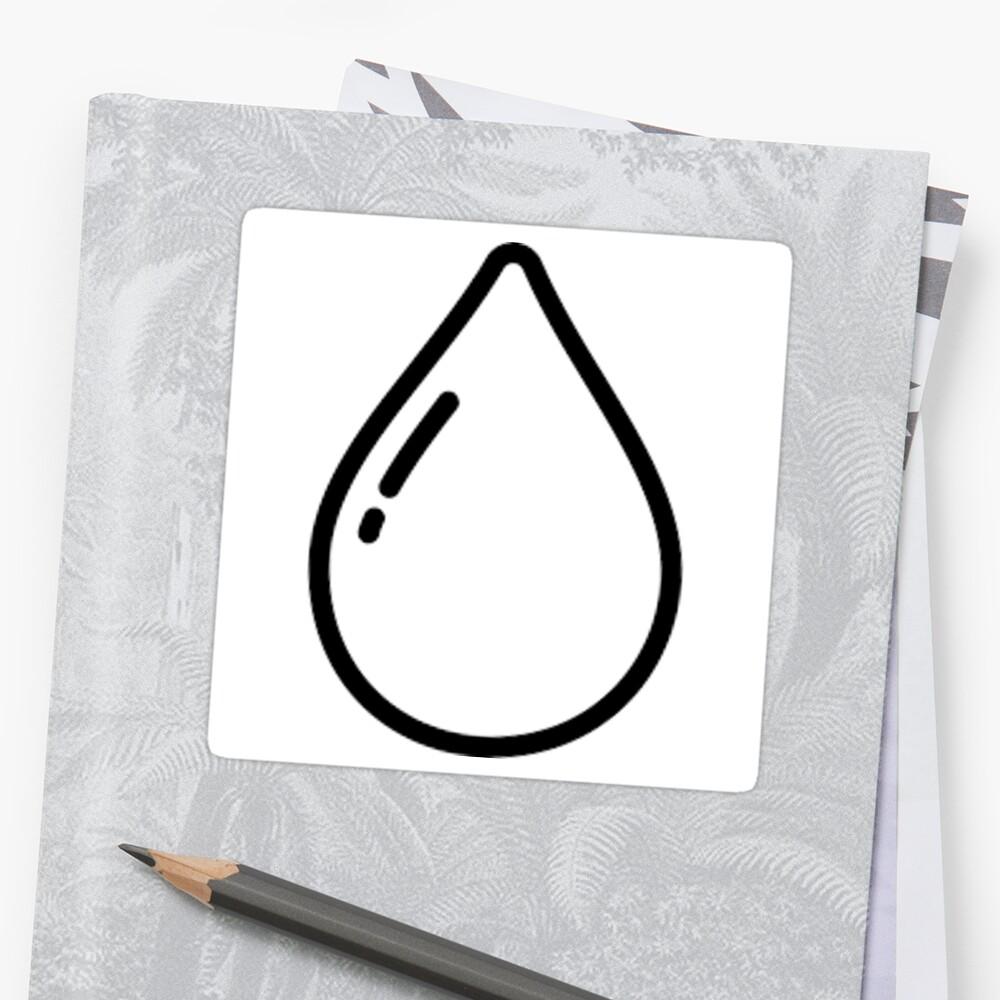 rain drop sticker by outbubble