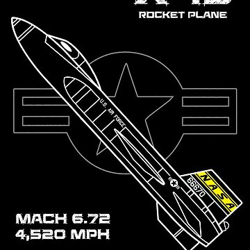 X-15 Rocket Plane by oddmetersam