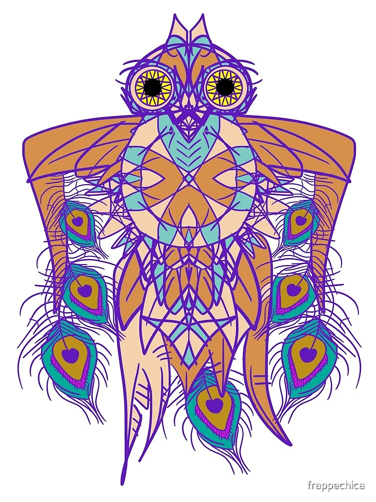 Tribal Peacock Owl by frappechica