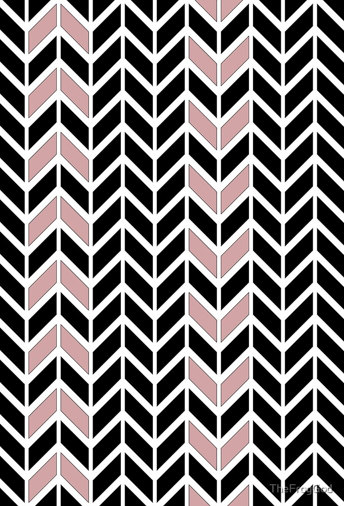 black and pink pattern by TheFrogGod