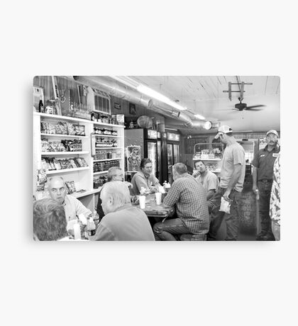 Eating Lunch at Depot Bottom Country Store Metal Print