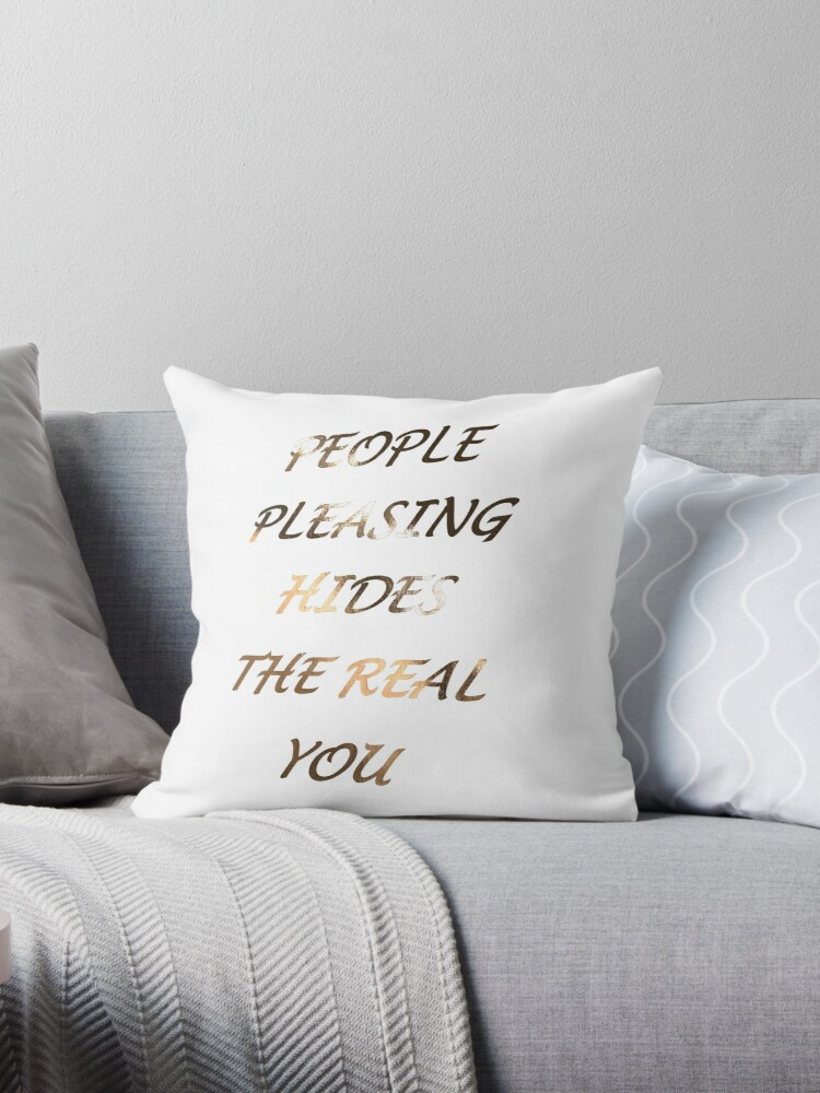 Rose Gold Metallic Quote - People pleasing hides the real you by katietavares