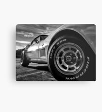Indy 500 Black and White Metal Print