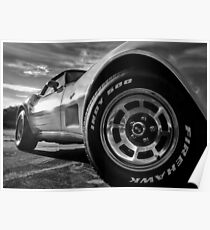 Indy 500 Black and White Poster