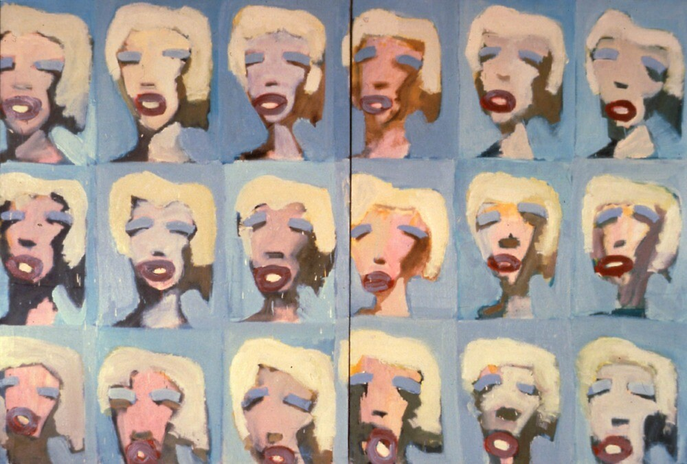 Abstract Marilyn Monroe by ddogsis