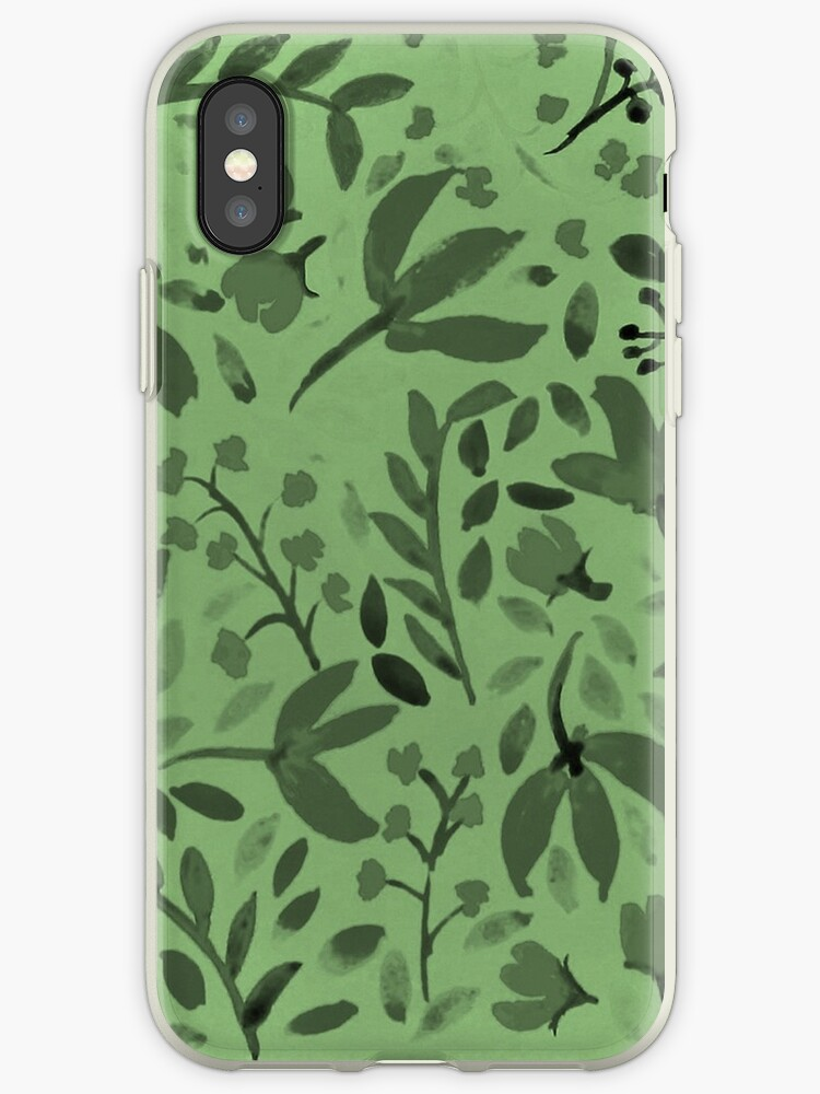 Green Floral Pattern by Brenander