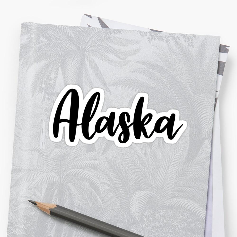 Alaska  Sticker Front