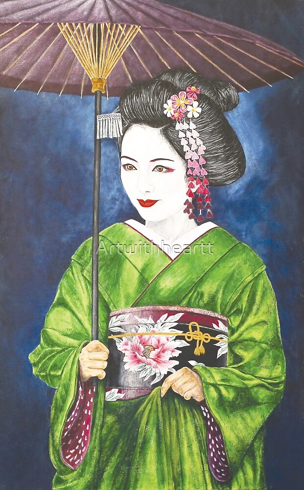 geisha by Artwithheartt