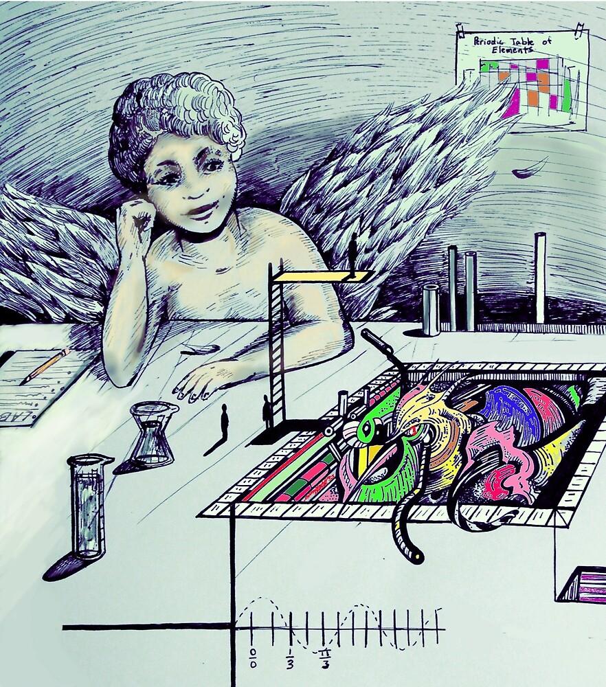 Little Cherub Day Dreaming in Science Class by G3ki