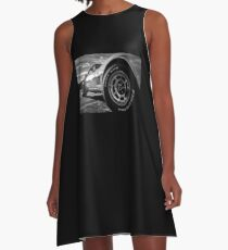 Indy 500 Black and White A-Line Dress
