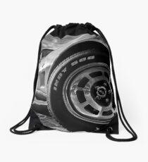 Indy 500 Black and White Drawstring Bag