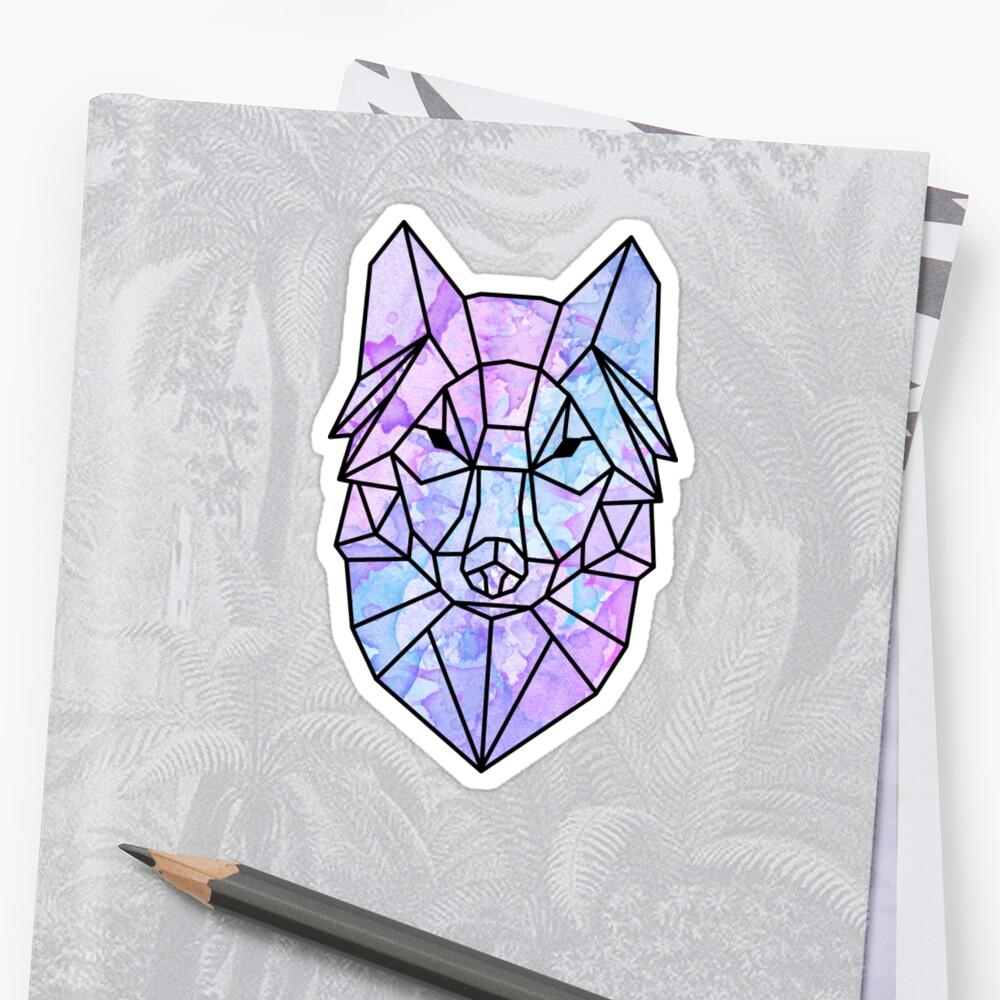Watercolor Wolf by juliarosenbe