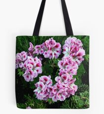 Wreath of Pink Geraniums Tote Bag