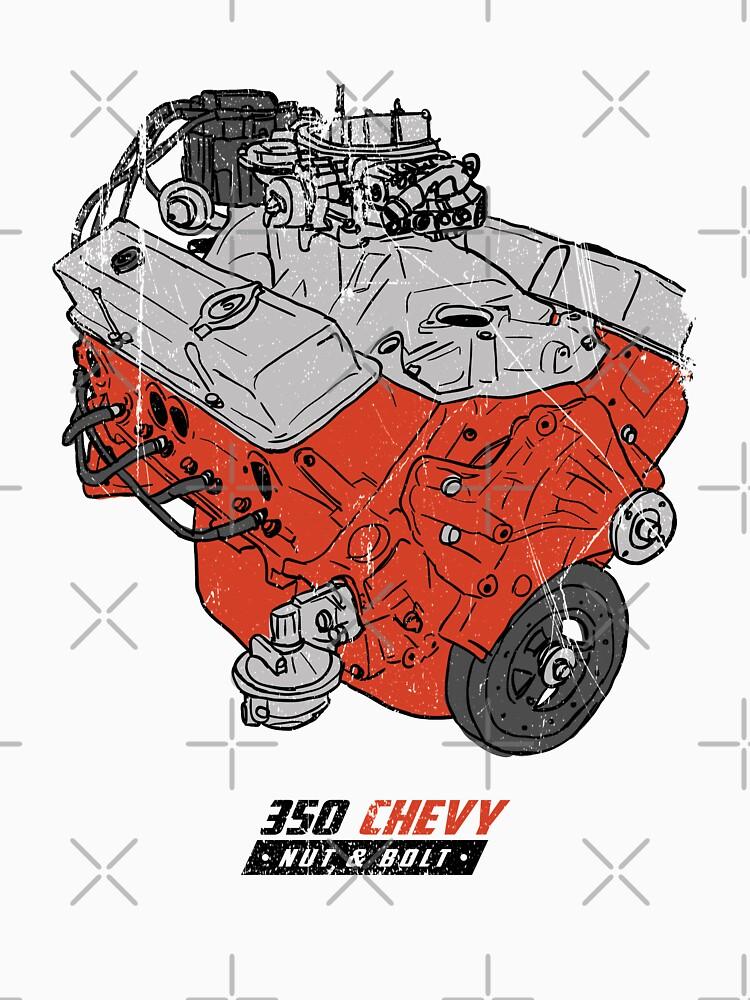 Chevrolet Chevy 350 V8 GM Muscle Car Engine by nutandbolt
