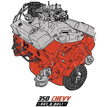 Chevrolet Chevy 350 V8 GM Muscle Car Engine by nutandbolt