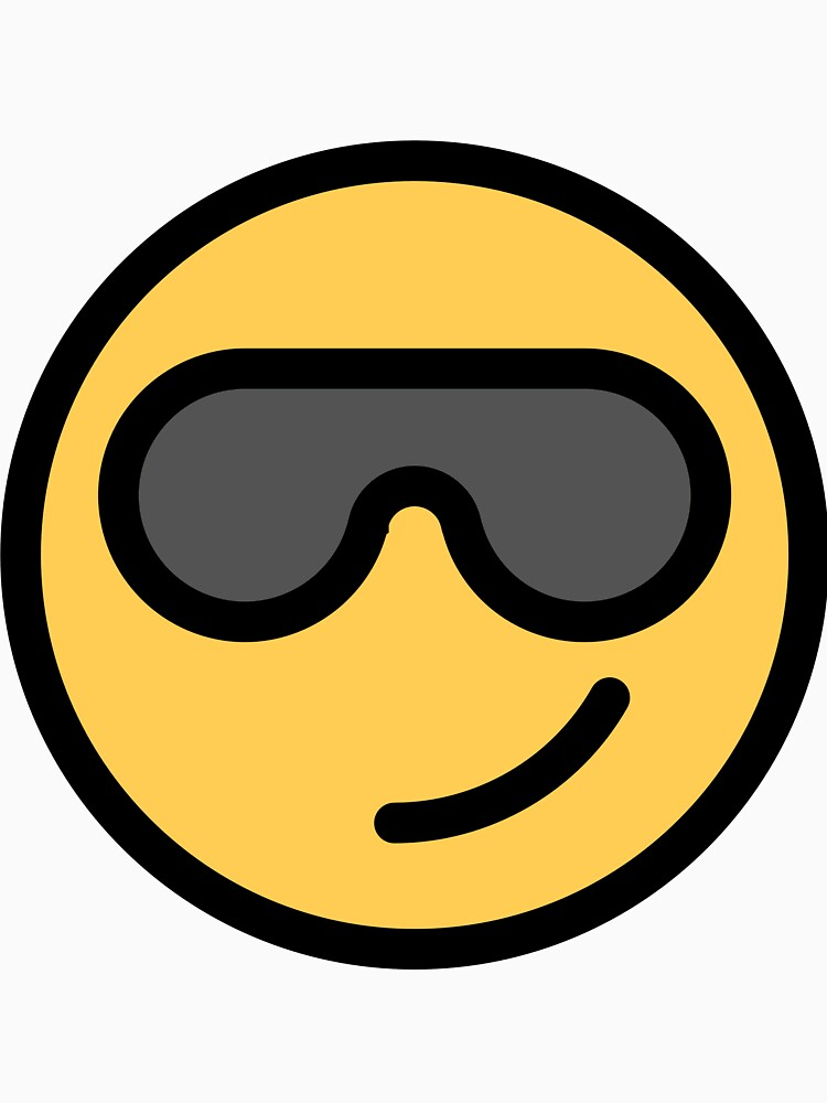 Smiley Face   Cool Sunglasses Happy Face   Cute Grey Glasses by DogBoo
