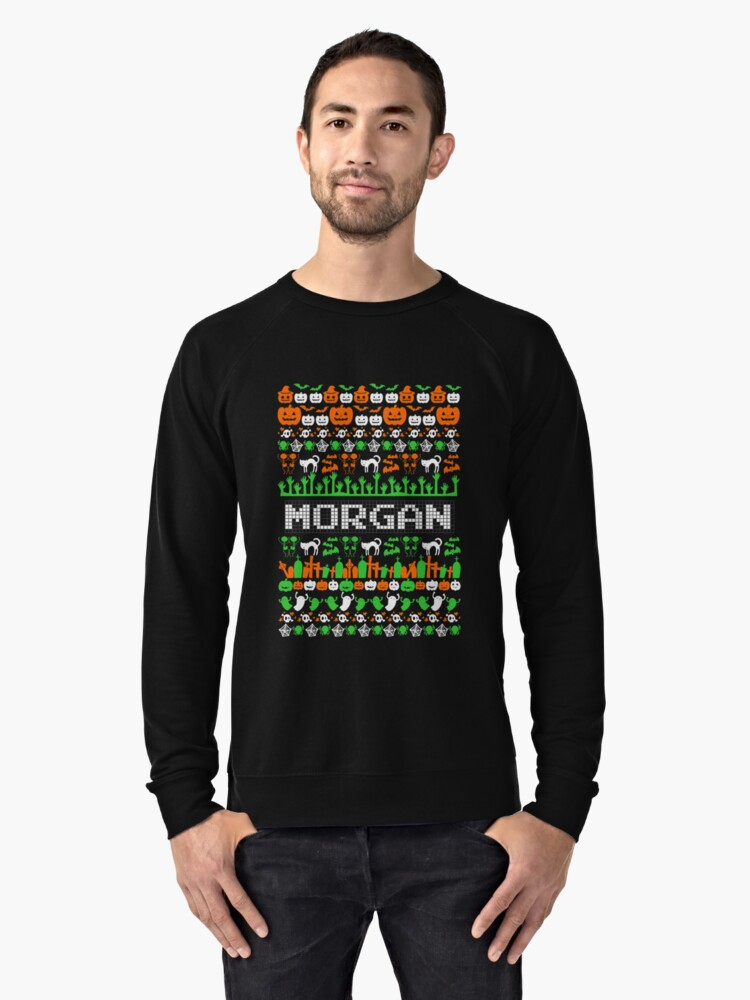 Morgan Ugly Halloween Long Sleeve Morgan T-Shirt Lightweight Sweatshirt Front