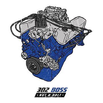 Ford 302 V8 Muscle Car Windsor Boss Engine by nutandbolt