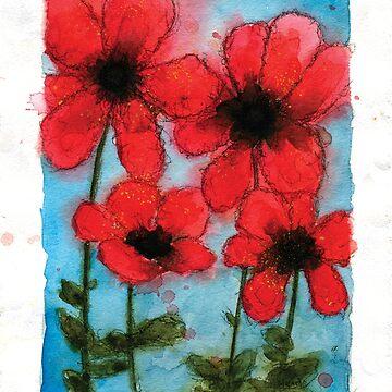 Poppies by HeidiHoHo
