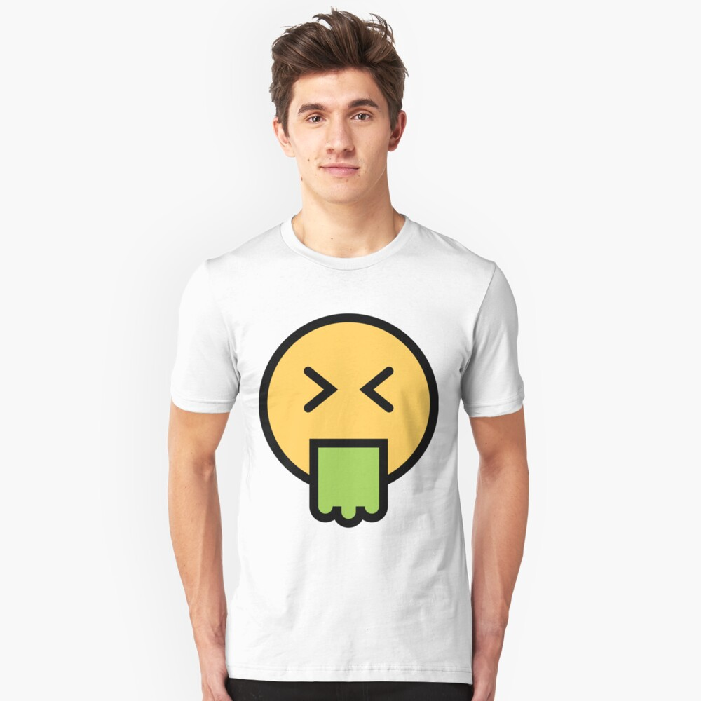 Smiley Face   Puking Vomit Face Unisex T-Shirt Front