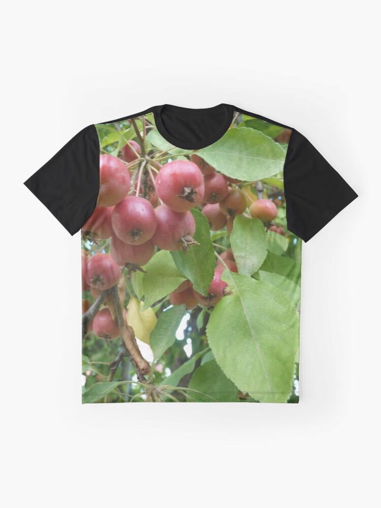 T-shirt graphique ''Pommettes en fin d'été': autre vue