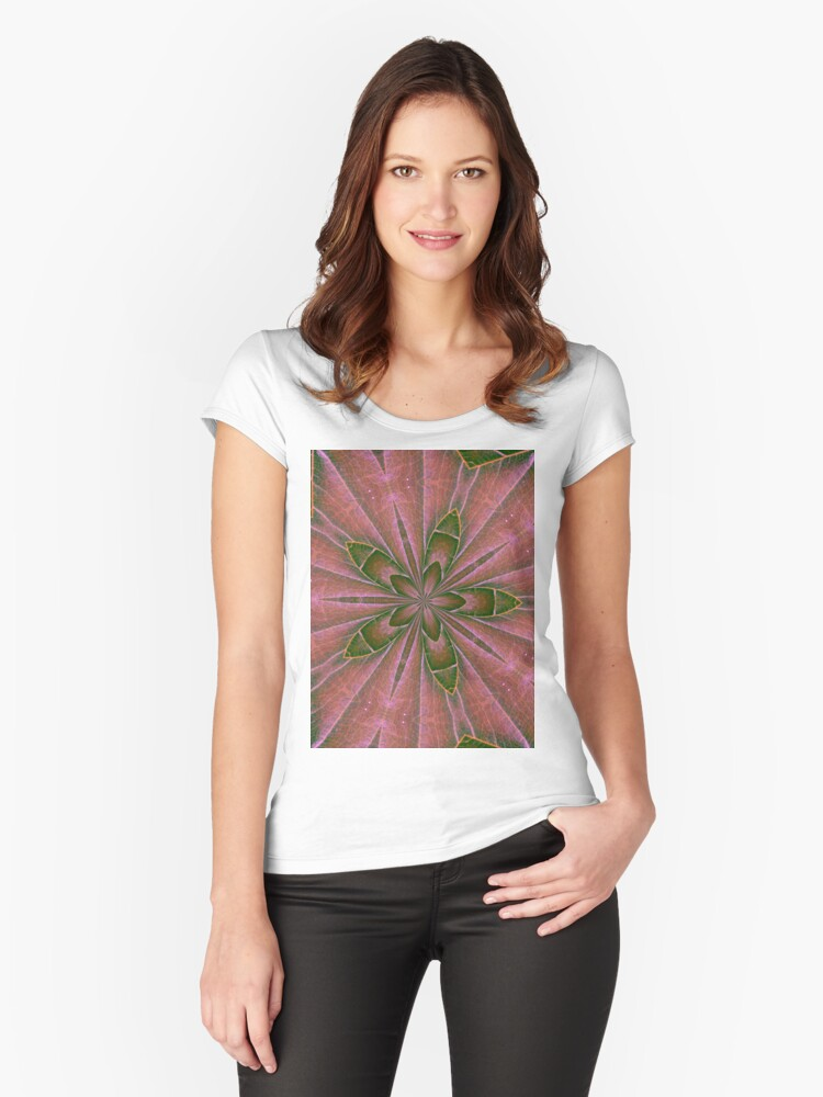kaleidoscope Women's Fitted Scoop T-Shirt Front