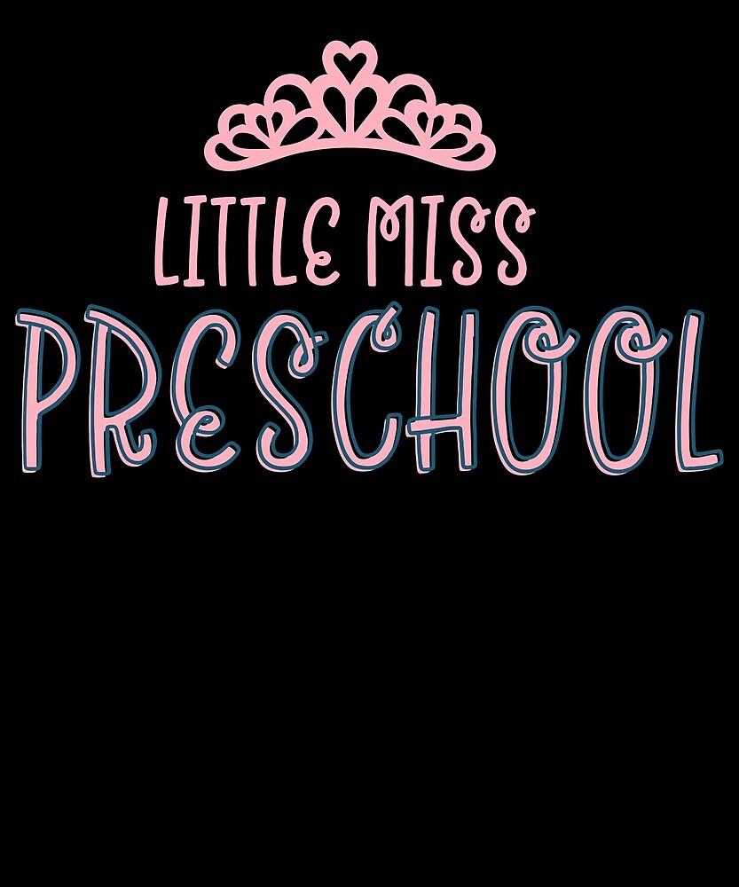 Little Miss Preschool   Preschool Uniform Shirt For Girls Funny Humor Princess Crown Aodrable Cute P by Cameronfulton