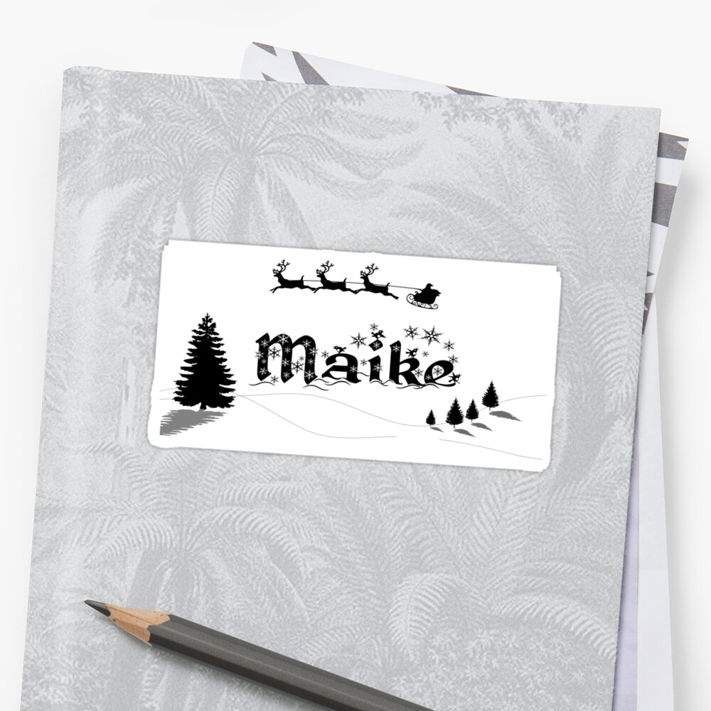 Christmas Name Maike Sticker Front