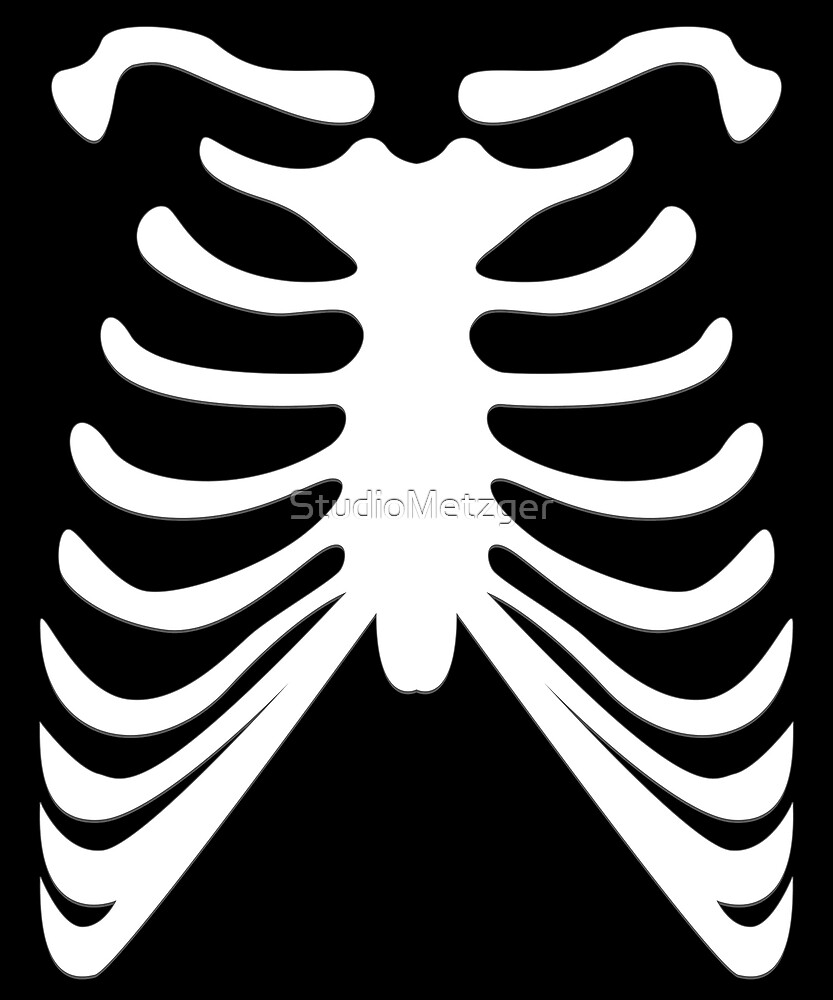 Funny Skeleton Rib Cage Halloween Costume T Shirt by StudioMetzger