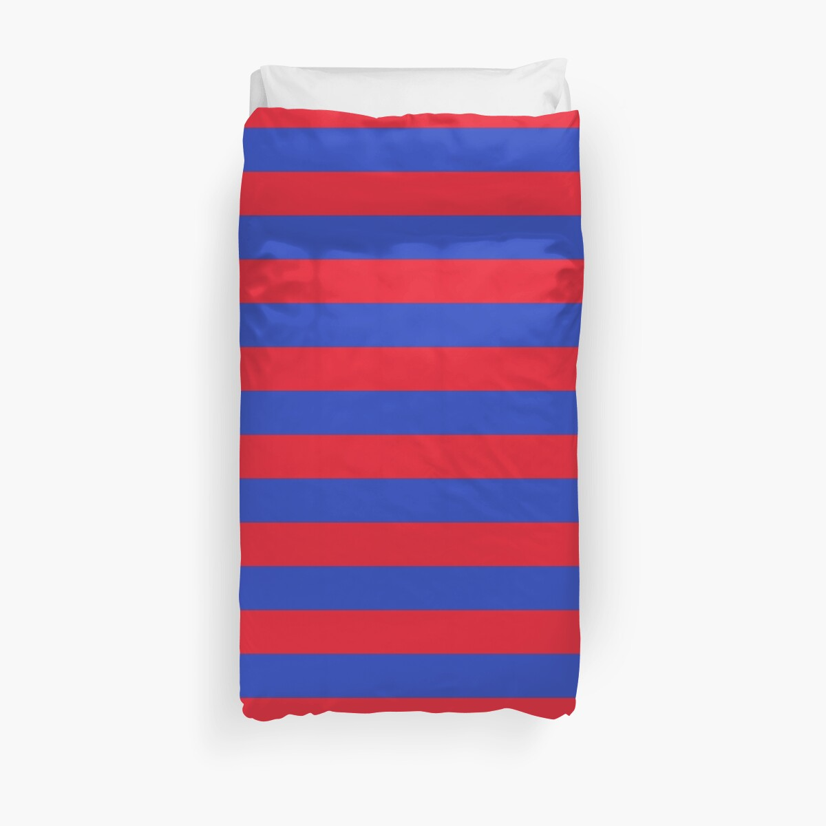 Blue and Red Horizontal Stripes  by Leah McPhail