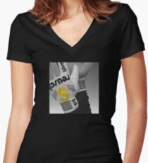 """The """"S"""" Glove Women's Fitted V-Neck T-Shirt"""