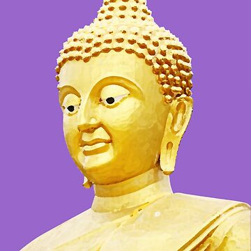 Budhha On Amethyst Color Background by justrachna